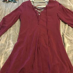 Cranberry long sleeve dress